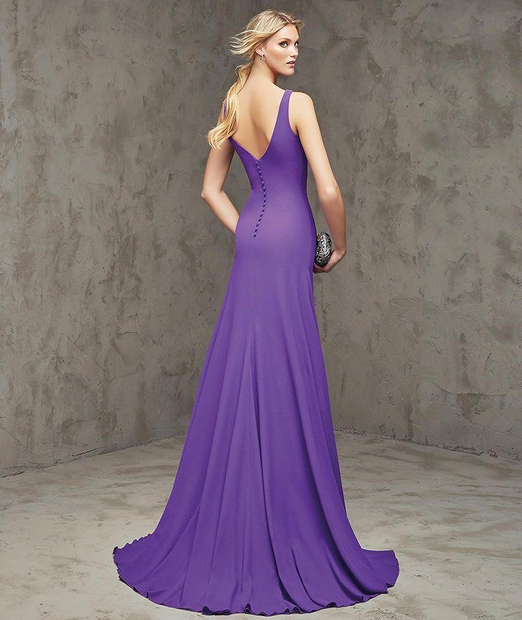 Filia, vestido de georgette color morado | mada | Pinterest ...