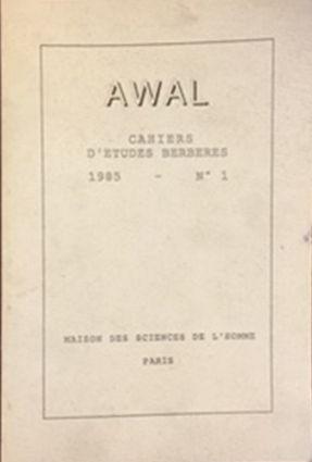 Awal : cahiers d'études berbères