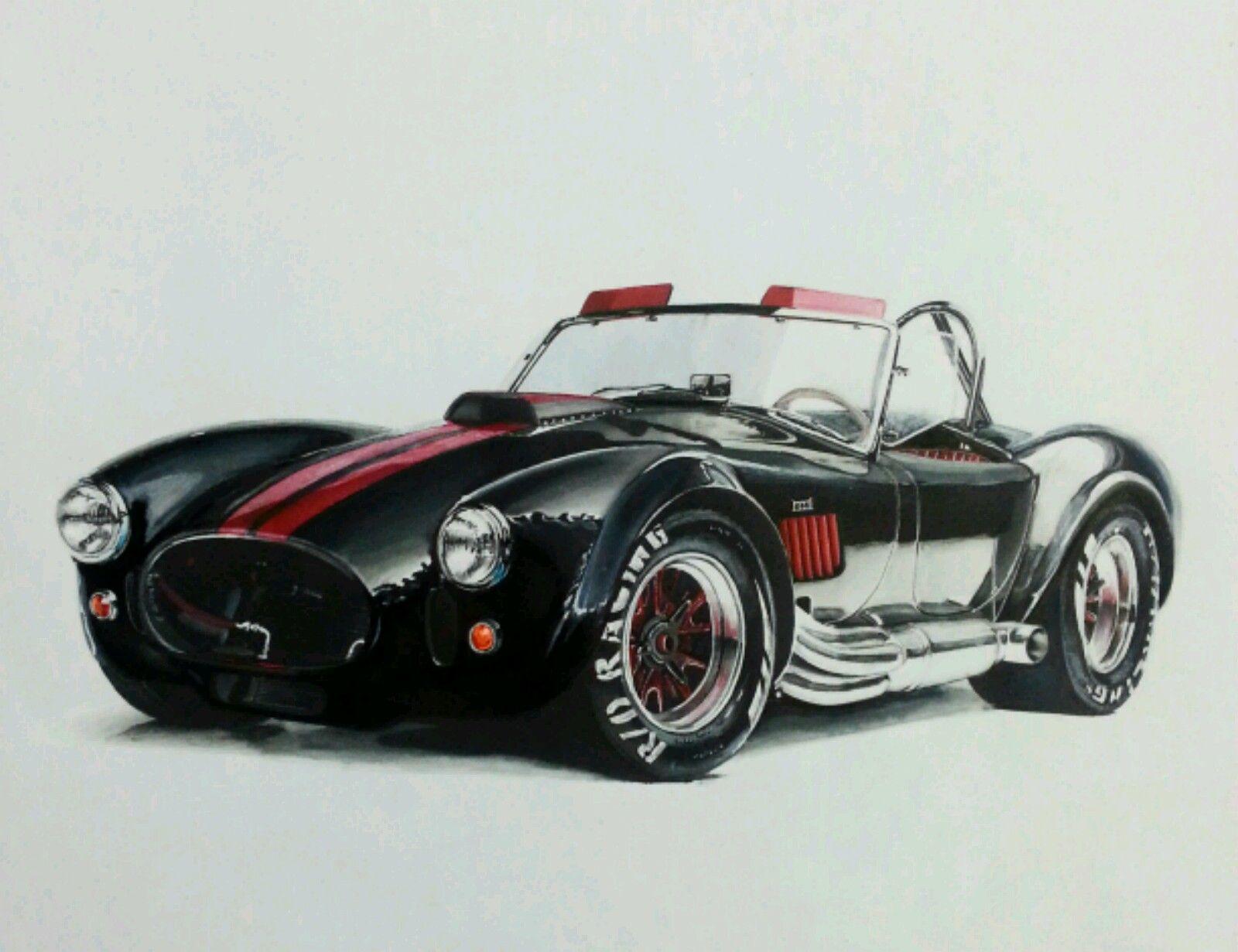 ac cobra shelby 666ci dessins pinterest voitures belle voiture et moto. Black Bedroom Furniture Sets. Home Design Ideas