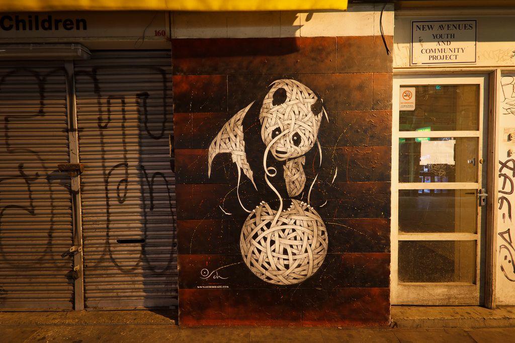 Otto Schade piece from Brick Lane, London from AdversMedia's Flickr stream.