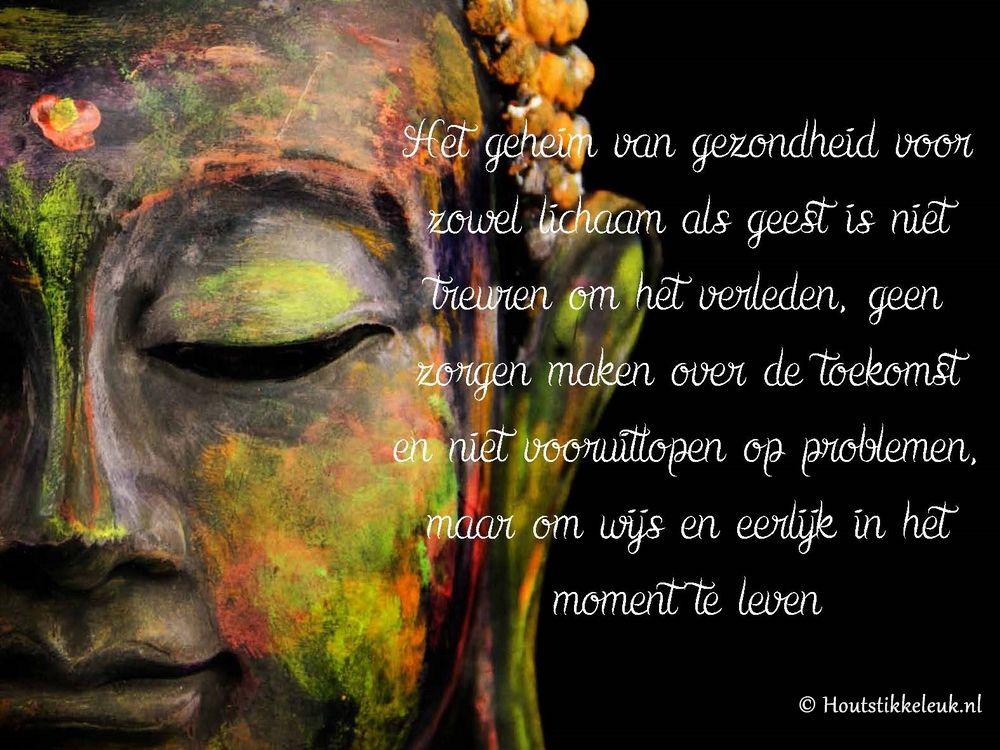Citaten Boeddha : Boeddha op hout het geheim van gezondheid