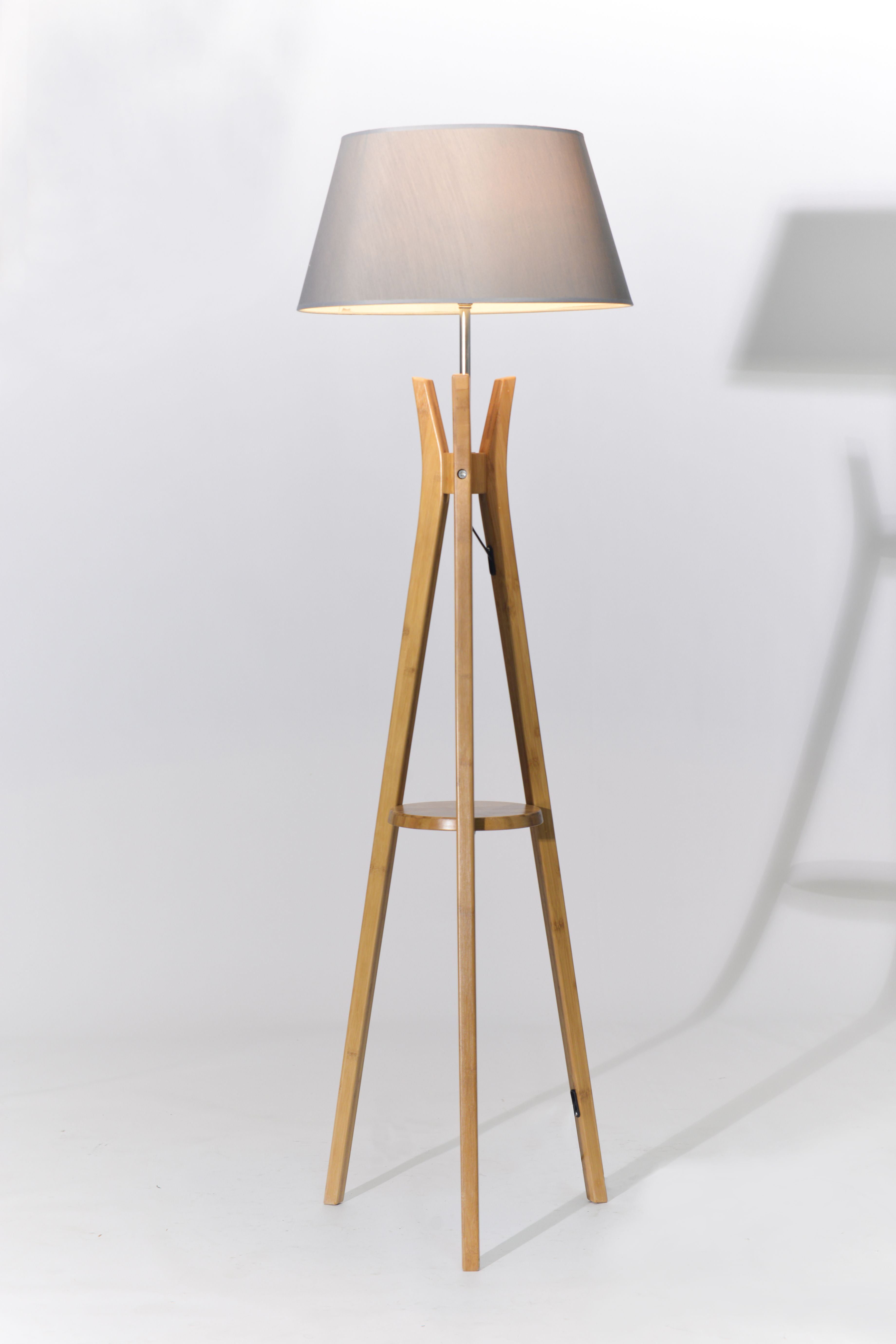 Luce Tripod Floor Lamp Combines The Material And Design To Give Your Space A Beautifully Natural Feeling This P Tripod Floor Lamps Floor Lamp White Shade Lamp