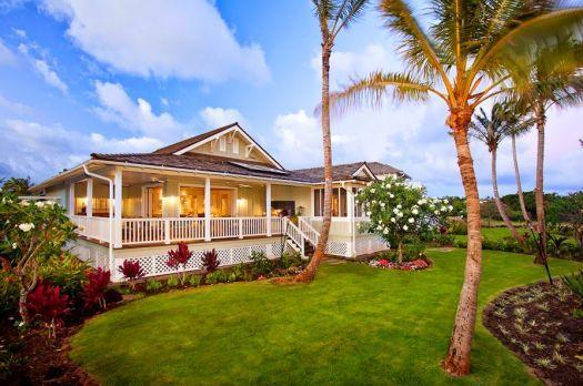 Hawaiian plantation style home 126 pieces jigsaw puzzle
