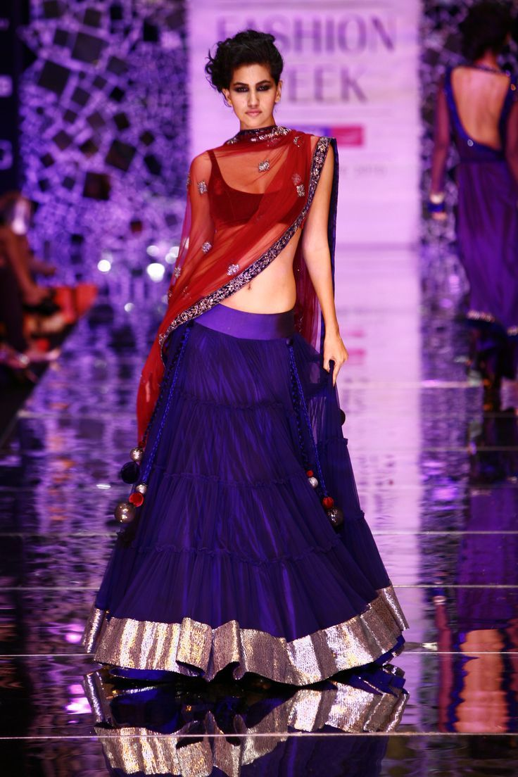 Royal blue and red. My favorite color combo for Indian dresses. I ...