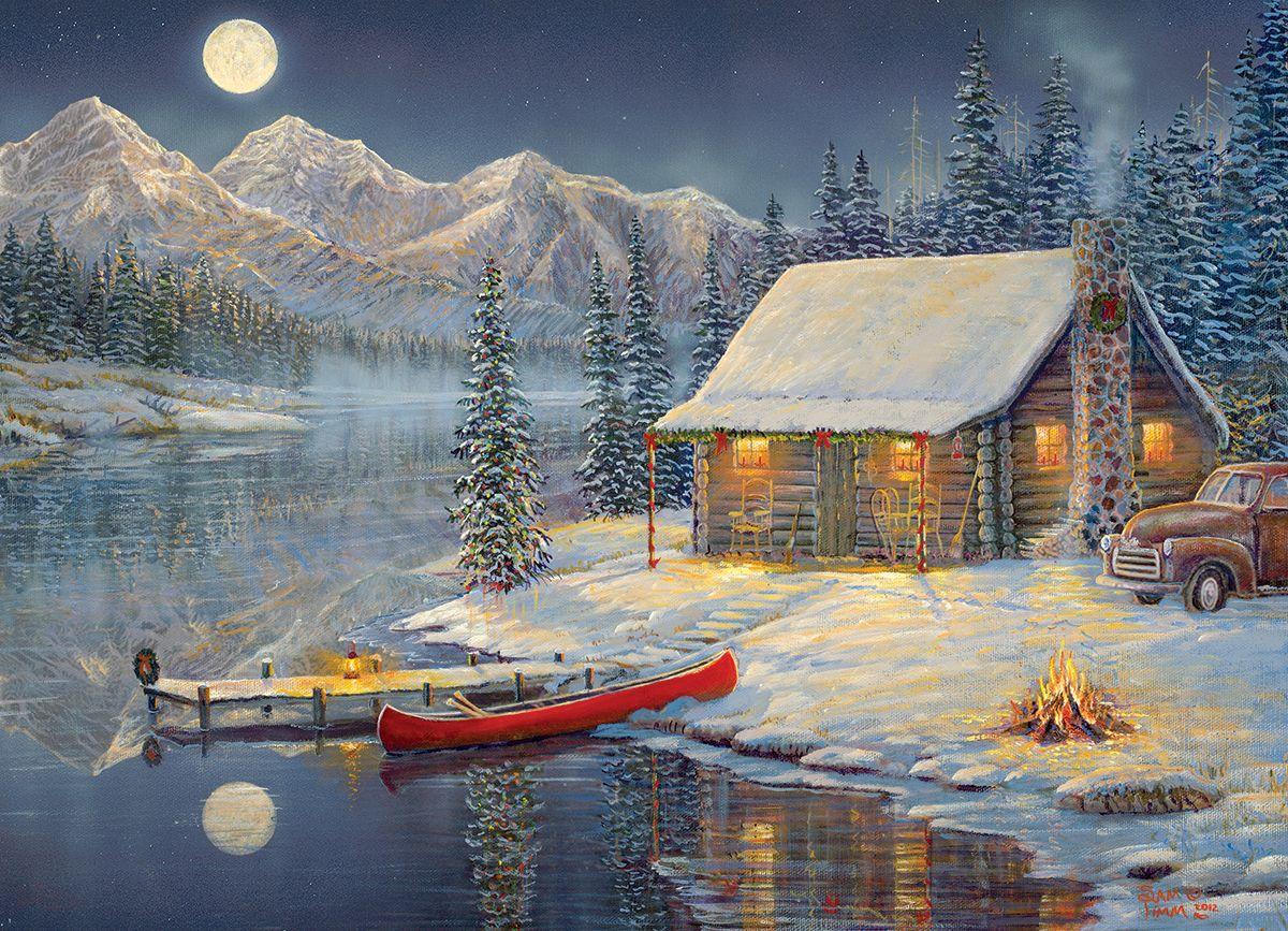 A cozy christmas by sam timm 1000 piece puzzle artist - Seelenfarben weihnachtskarten ...