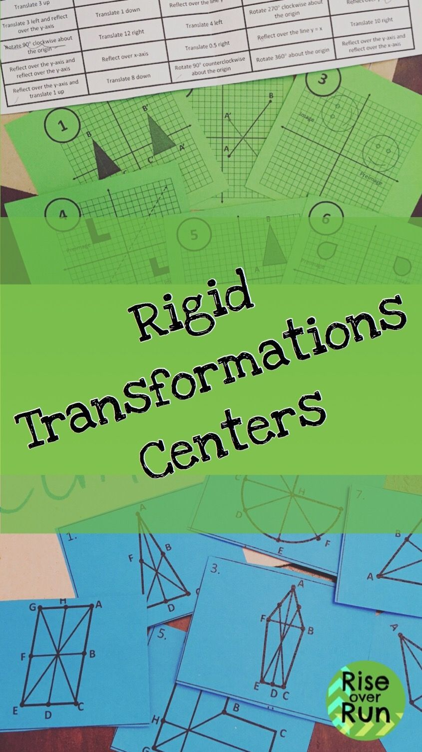 Rigid Transformations Centers Differentiation Math Teaching Geometry Differentiated Math Centers [ 1503 x 845 Pixel ]