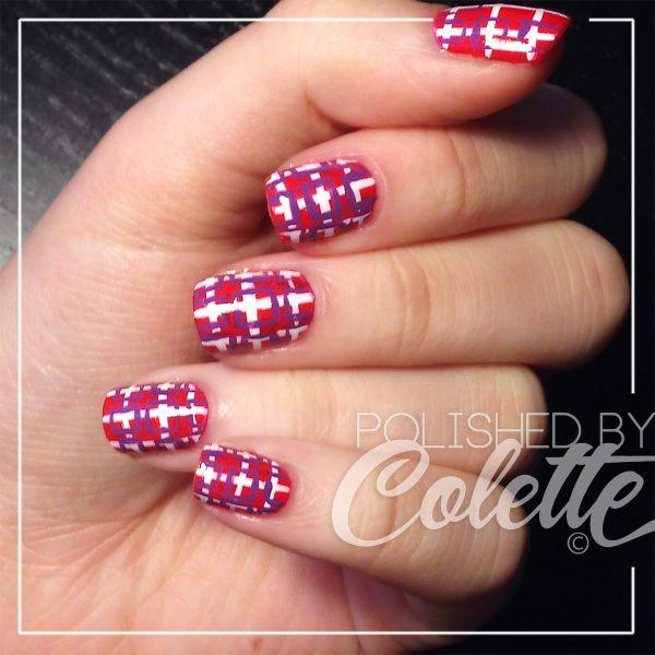 Mod checkerboard / plaid summer nail art http://instagram.com/polishedbycolette  #nails #nailart #naildesigns #DIY #tutorial #retro #plaid #summer