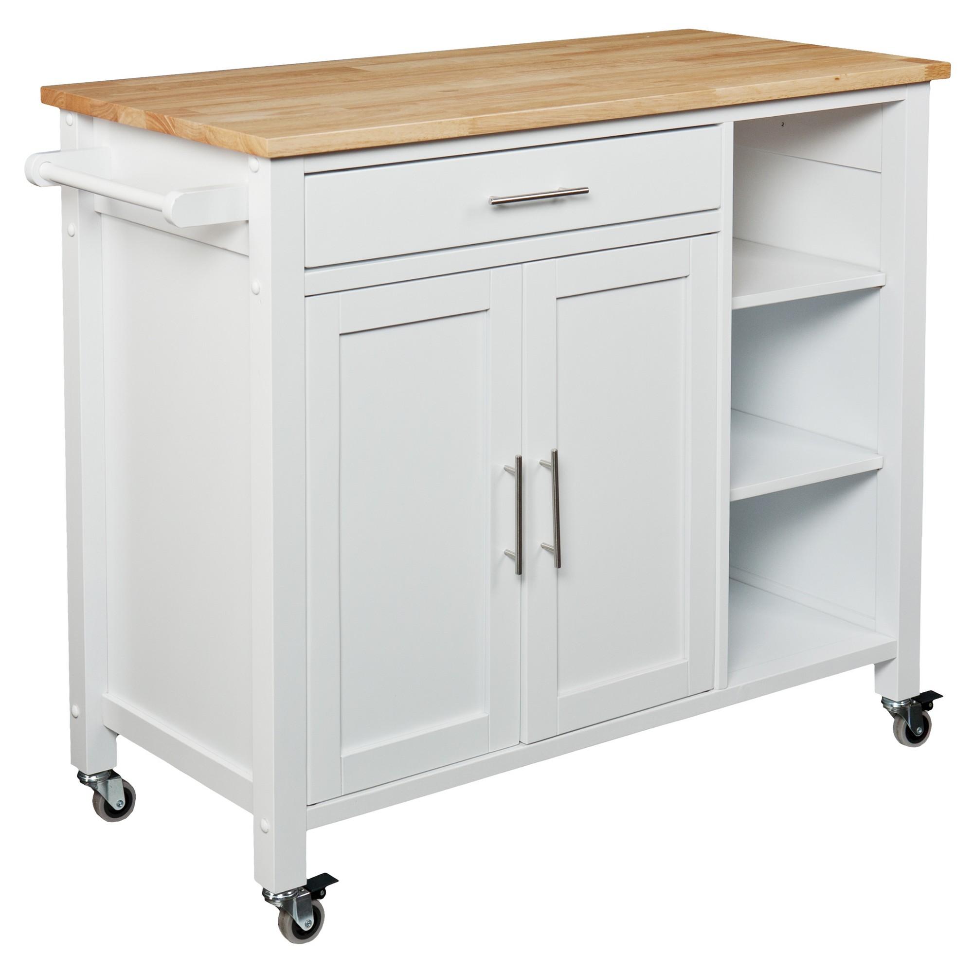 Aiden Lane Martinsen Kitchen Cart - White in 2019 | Products ...