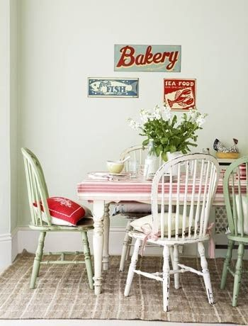 in love with vintage kitchens