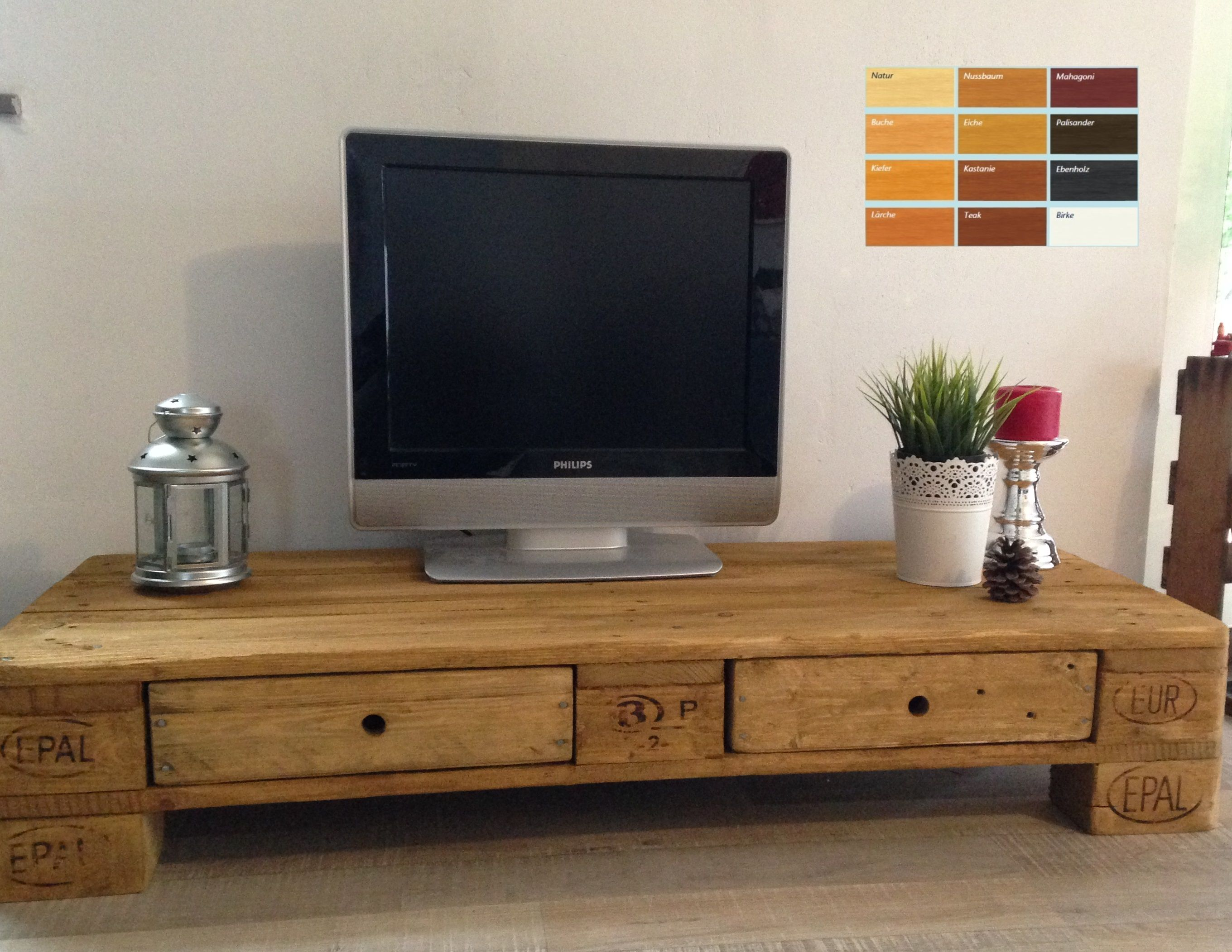 TV-Board aus Euro-Palette / Tv rack made of Euro pallet ...