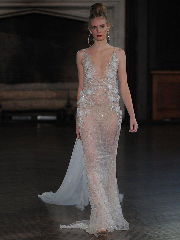 Berta bridal fall 2017 sheer wedding gown | itakeyou.co.uk #wedding #weddingfashion #bridal #weddingdress #weddinggown #bridalgown #weddingdresses #weddinggowns #berta #bridalinspiration #weddinginspiration #engaged