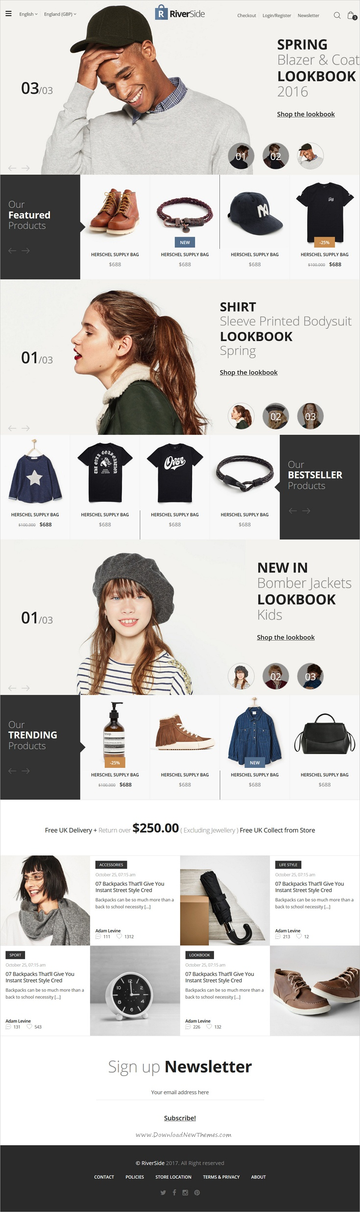 Riverside is clean and modern design 8in1 responsive #HTML template for stunning #eCommerce website download now..
