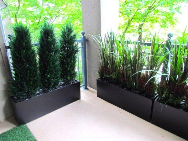 Greenscape Design Artificial Foliage Privacy Screen Planters Vancouver Balcony Plants Artificial Plants Plants