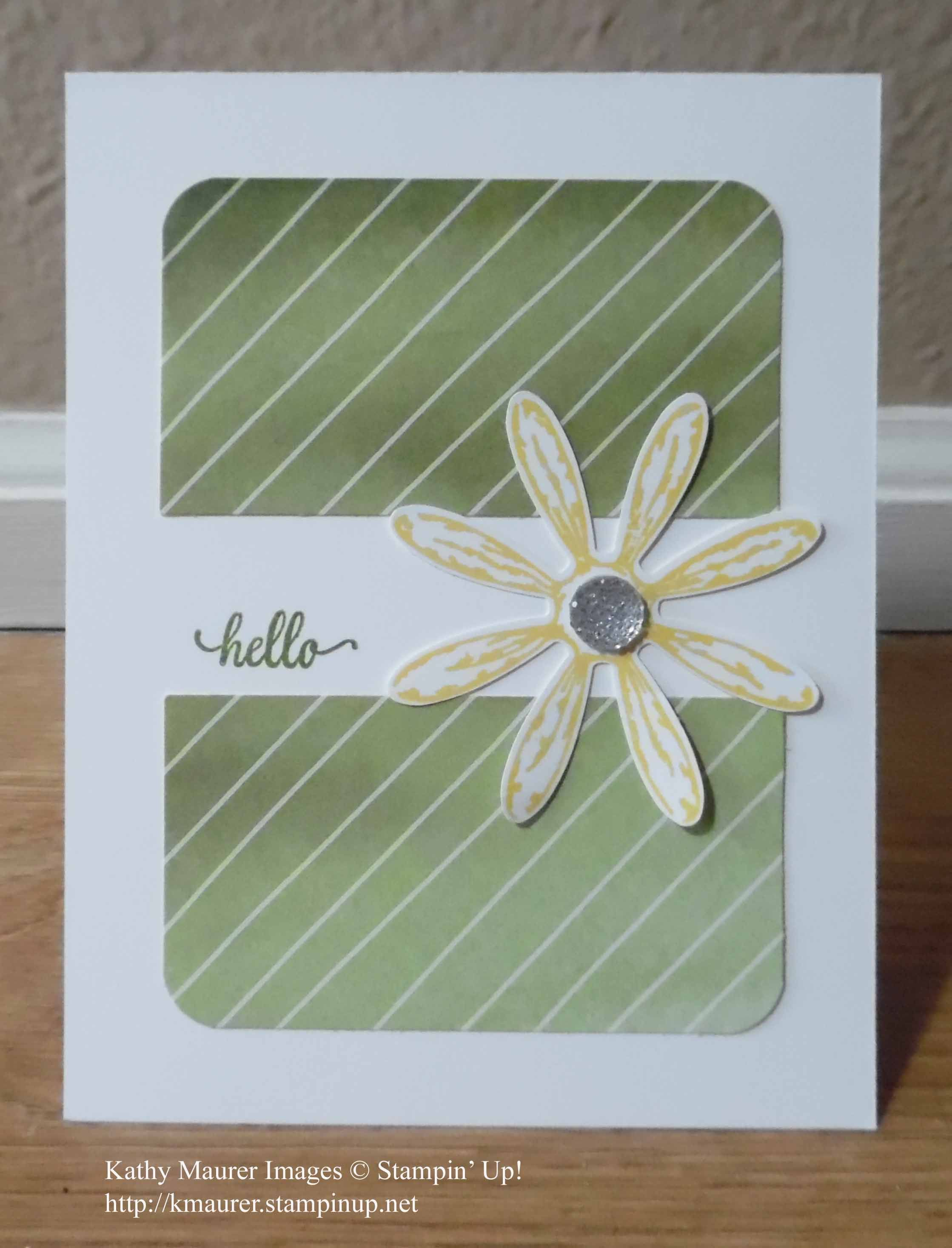 Easy Greeting Card Made With Stampin Ups Daisy Delight Bundle