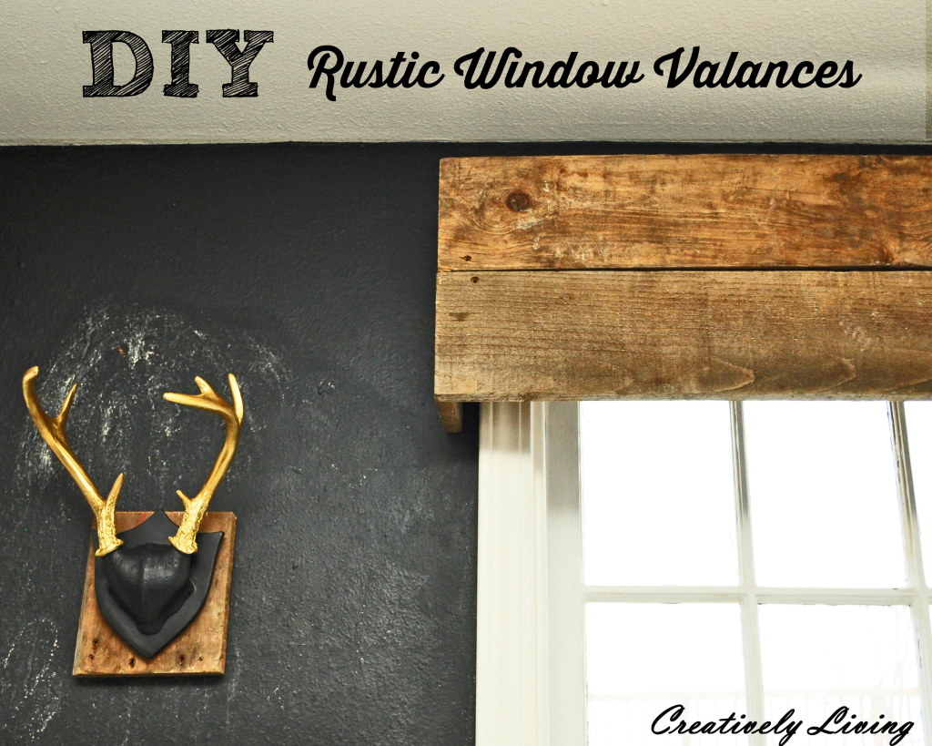 DIY Rustic Window Valances In The Kitchen