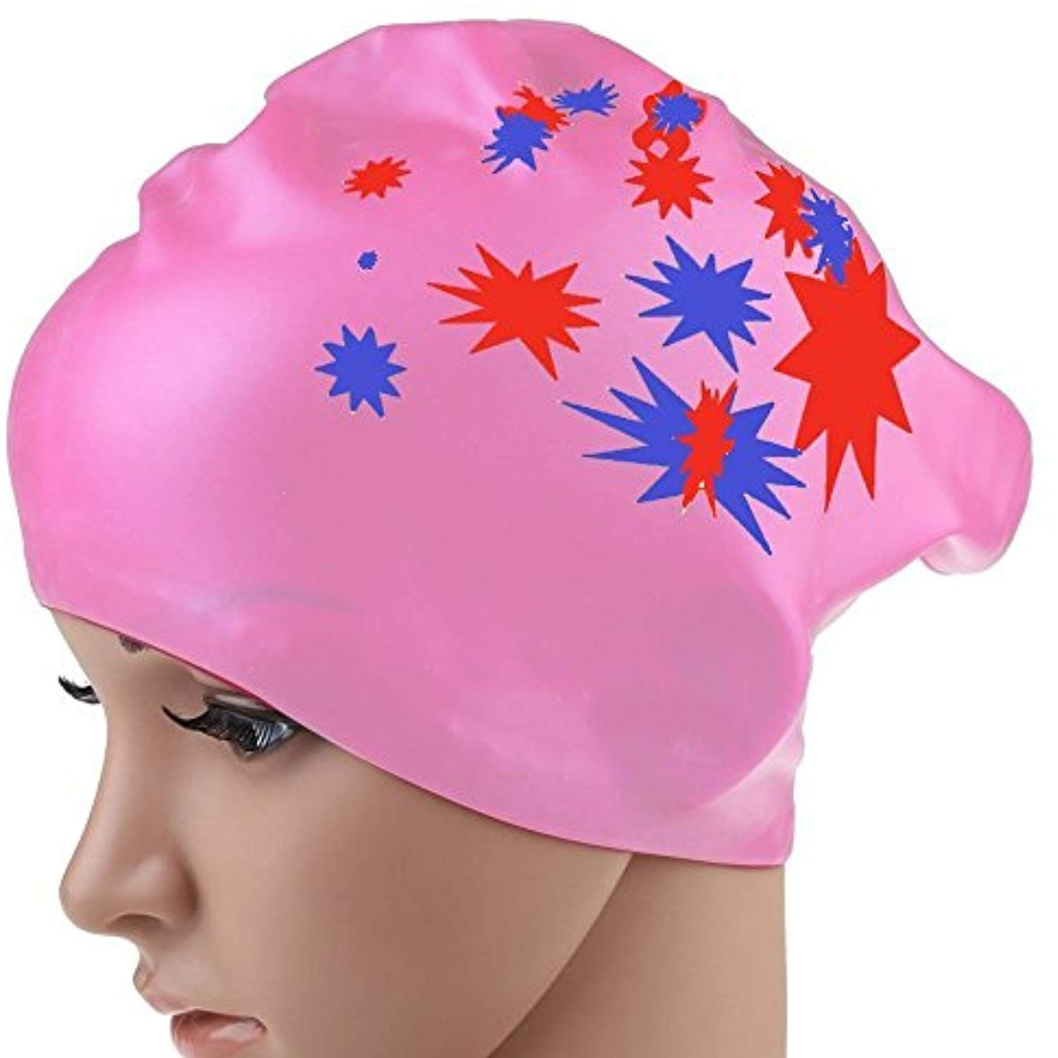 Eforstore 1pcs Waterproof Silicone Swimming Cap For Long Hair Women Perfact To Keep Thick Or Curly Hair Dry R Long Hair Women Dry Curly Hair Long Hair Styles
