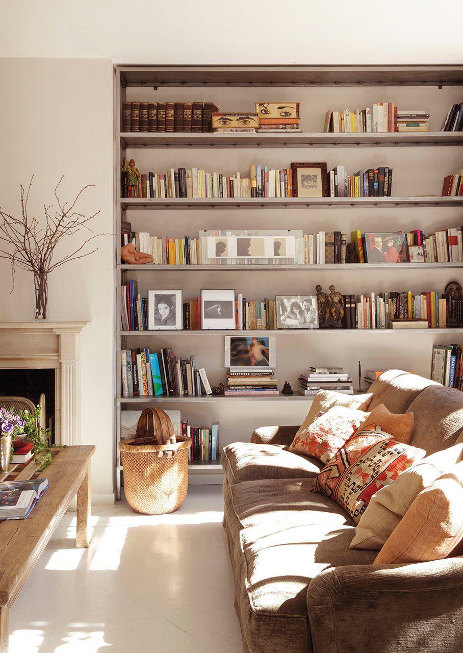 Librer a al lado de la chimenea del sal n en el sal n deco pinterest orden en casa - Librerias de salon ...