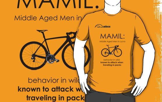 Cycling T Shirt Mamil Middle Aged Men In Lycra Behavior T