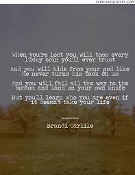 Image result for lyrics brandi carlile -