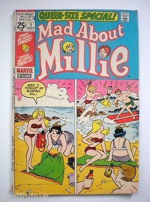Mad About Millie 1 Queen Size Special November 1971 Marvel Comics Group Bronze