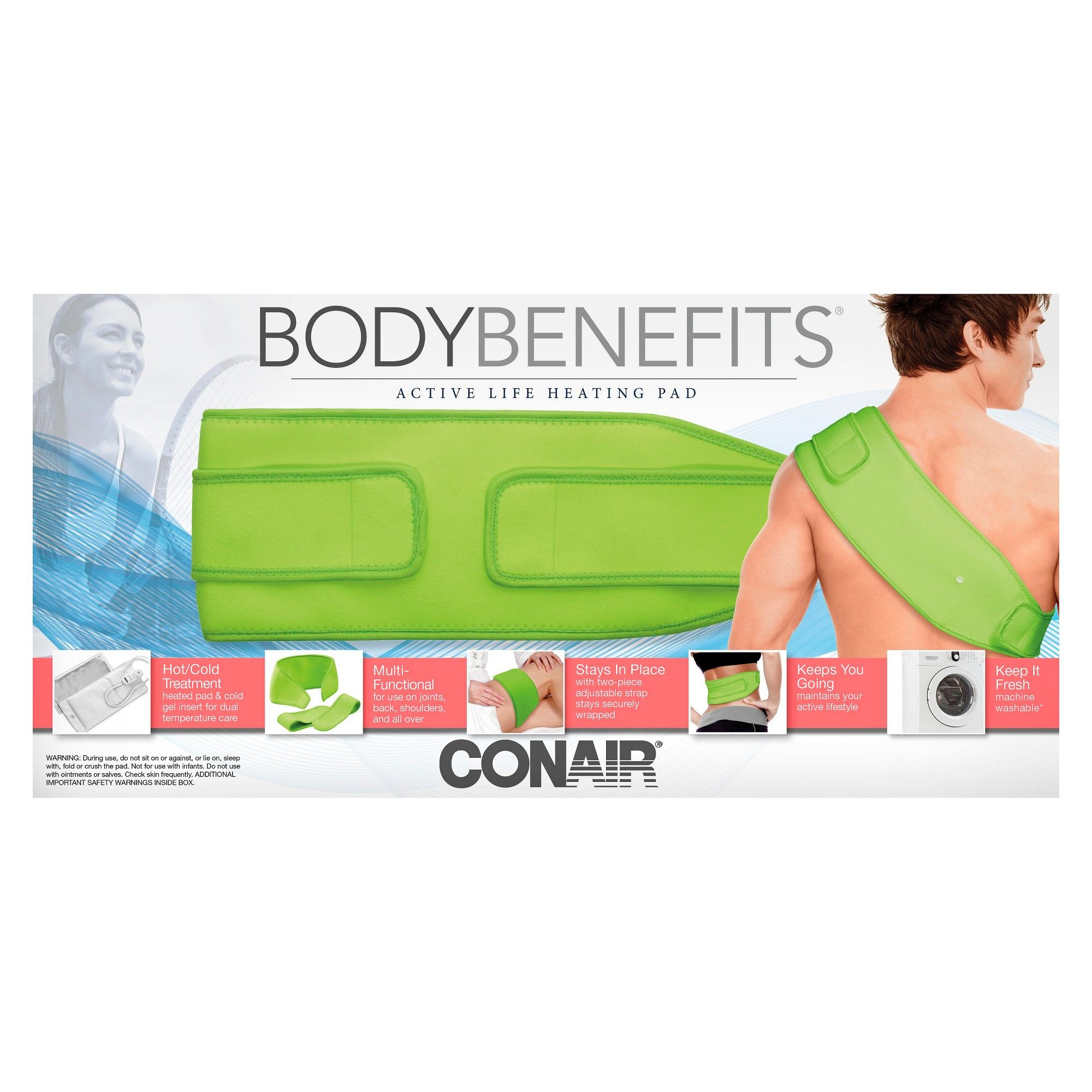 conair heating pad - green | products