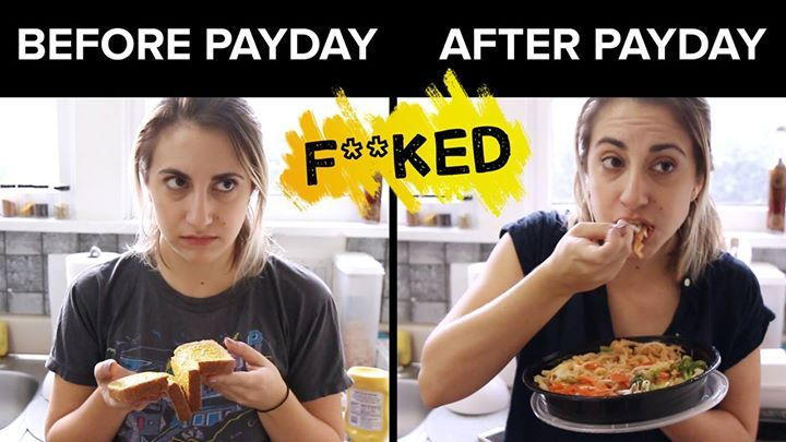 cool Before Payday Vs. After Payday (via SOML)Before Payday Vs. After Payday