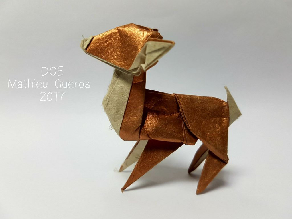 Origami doe by mathieu gueros origami january 2017 origami origami doe by mathieu gueros origami jeuxipadfo Image collections