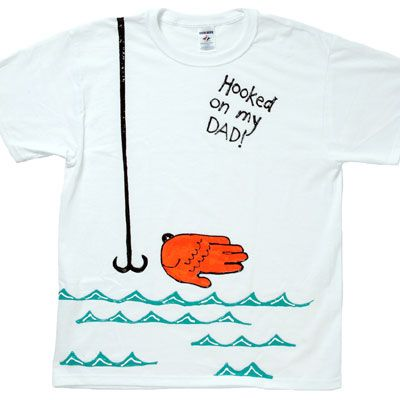 Diy Hooked On My Dad Handprint T Shirt Fun For Father S Day