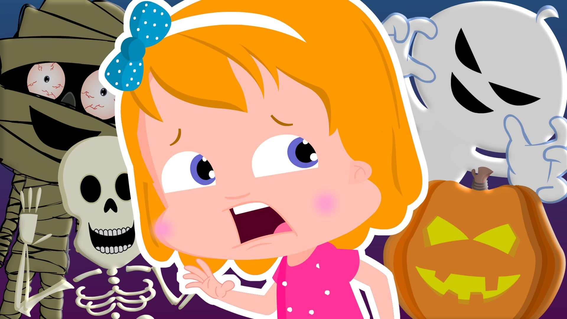 Umi Uzi and the Halloween monsters | scary songs for kids