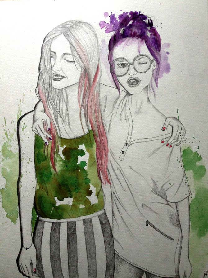 ILLUSTRATION-fashion & people - What She Does// Girrrrrls