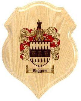 $34.99 Higgins Coat of Arms Plaque / Family Crest Plaque