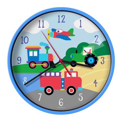 Wall Clocks: Olive Kids Trains, Planes, Trucks Wall Clock   Wall ...
