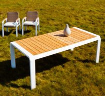 Salon de Jardin Aluminium 8 personnes Table 200x100 Miami ...