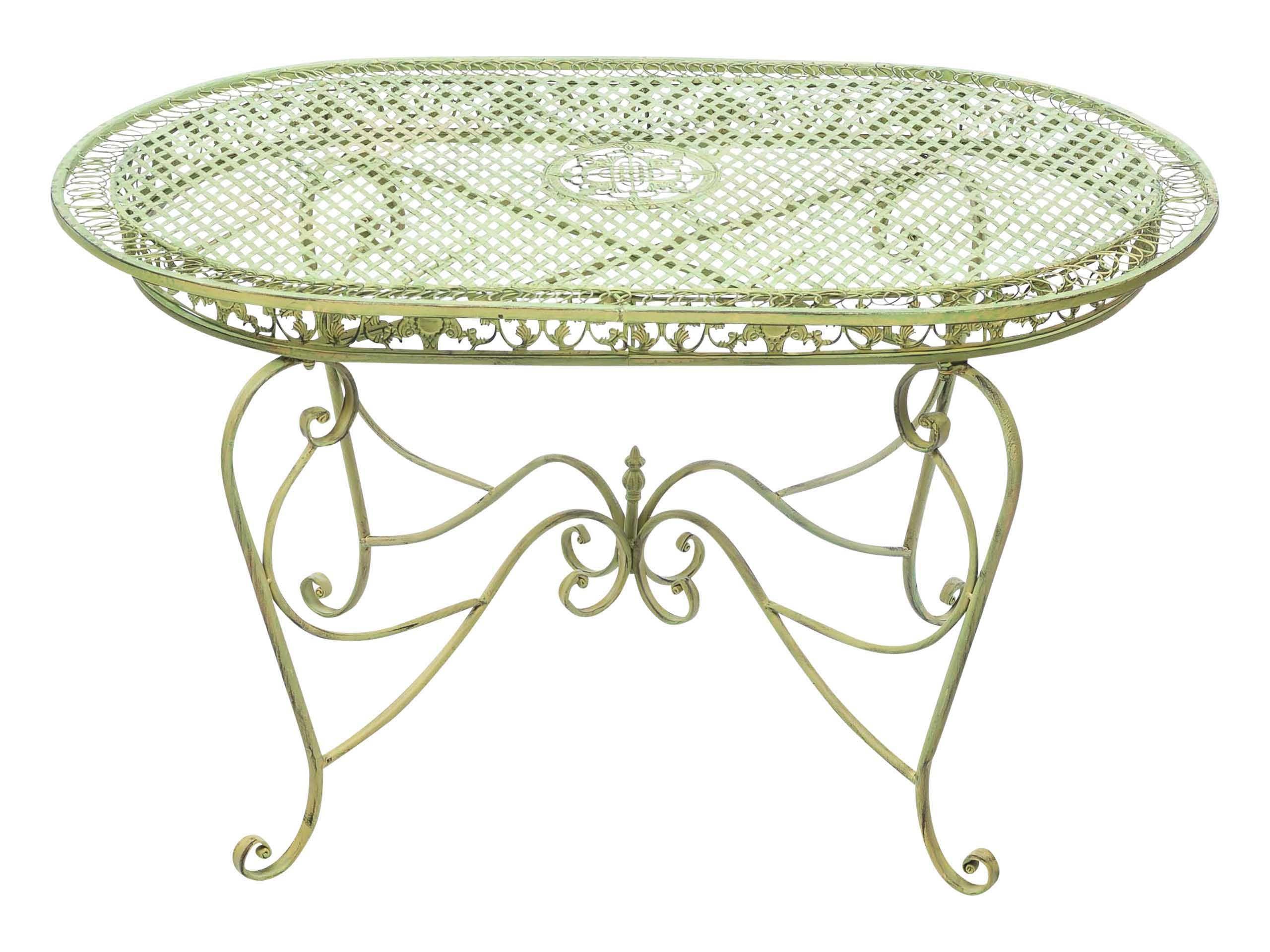 Gartentisch 135cm Eisen Tisch Schmiedeeisen Gartenmobel Grun Antik Stil Home Decor Decor Furniture