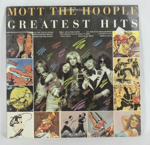 33rpm 12 Vinyl Lp Mott The Hoople Greatest Hits 1976 Vg Vg Mott The Hoople Hoople Greatest Hits