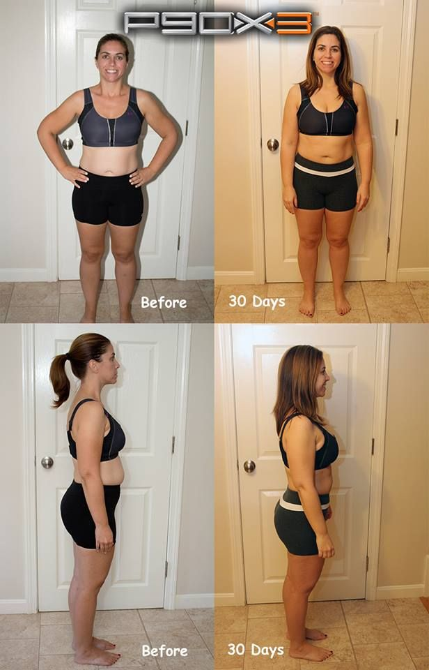 These are my results after 30 days using P90X3  Being a original
