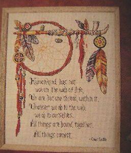 Free Native American Cross Stitch Cross Stitch Web Of Life