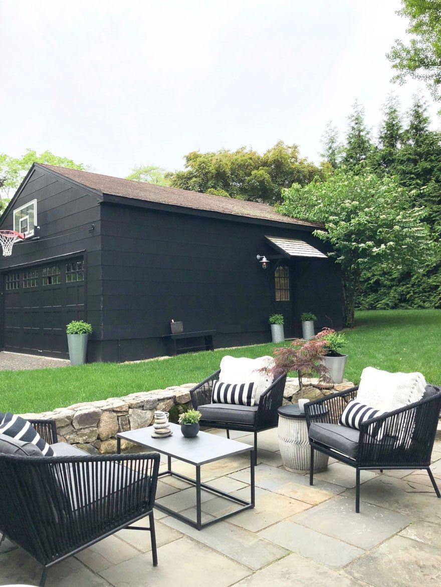 Bon We Painted Our Garage Black Since Itu0027s Basically In The Backyard And Then  Added The Black Standish Patio Furniture From Target.