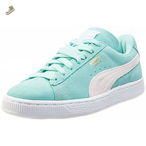 new product 8fe5a 83685 Puma Suede Classic Womens Trainers Green White - 8 UK - Puma ...