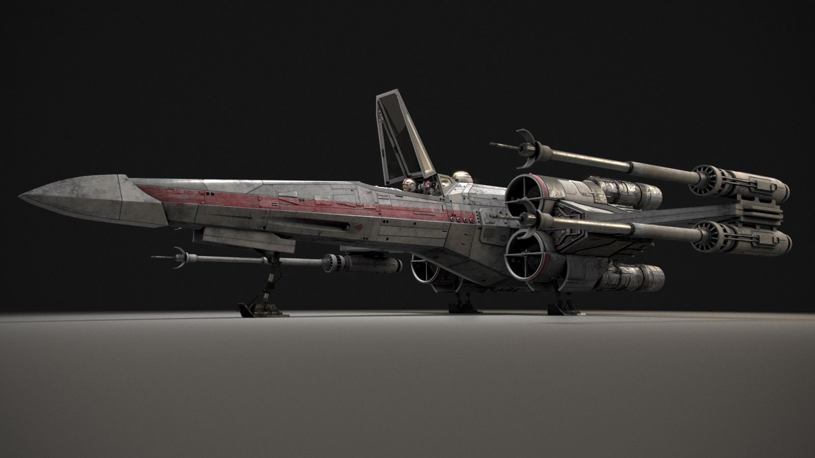X-Wing Landing, Aaron Hunwick on ArtStation at…