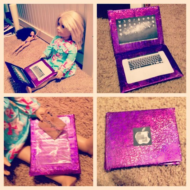Doll laptop. Made it myself! :)