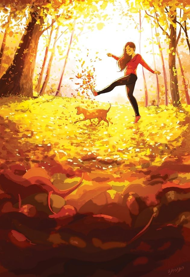 A Carefree Sort Of Walk, an art print by Yaoyao Ma Van As - INPRNT