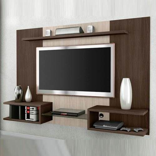 Panel rack lcd led tv mesa living colgante oferta zeus for Muebles design