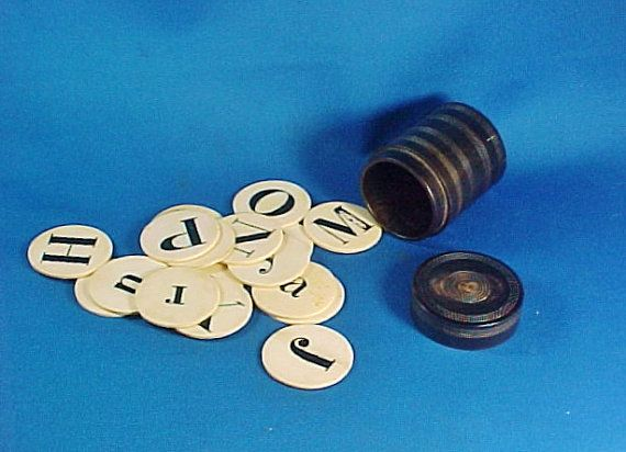 Antique Carved Bone Alphabet Letters Discs In By Americanaantiques Lettering Alphabet Bone Carving Lettering
