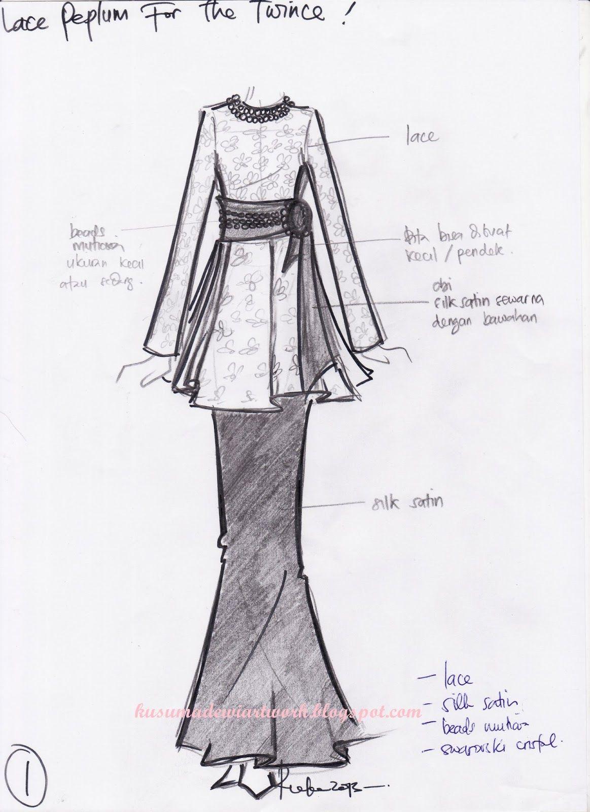 44 Cara Membuat Desain Baju Batik di 2020 Desain, Sketsa