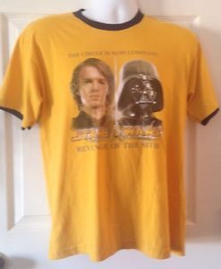 Vintage Star Wars Shirt Revenge Of The Sith Yellow Darth Vader Aniken Sky Walker Star Wars Shirts Mens Tshirts Mens Shirts