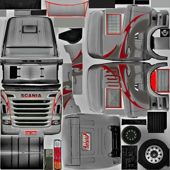 Scania Gris Con Rojo Com Imagens Caminhao De Madeira Onibus