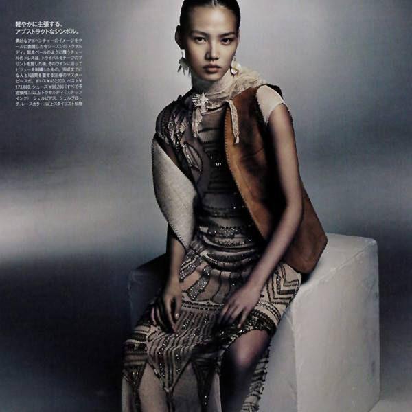 Flowing fabrics and exquisite details. TRUSSARDI embroidered dress on Madame Figaro Japan. #Trussardi #TrussardiEditorials