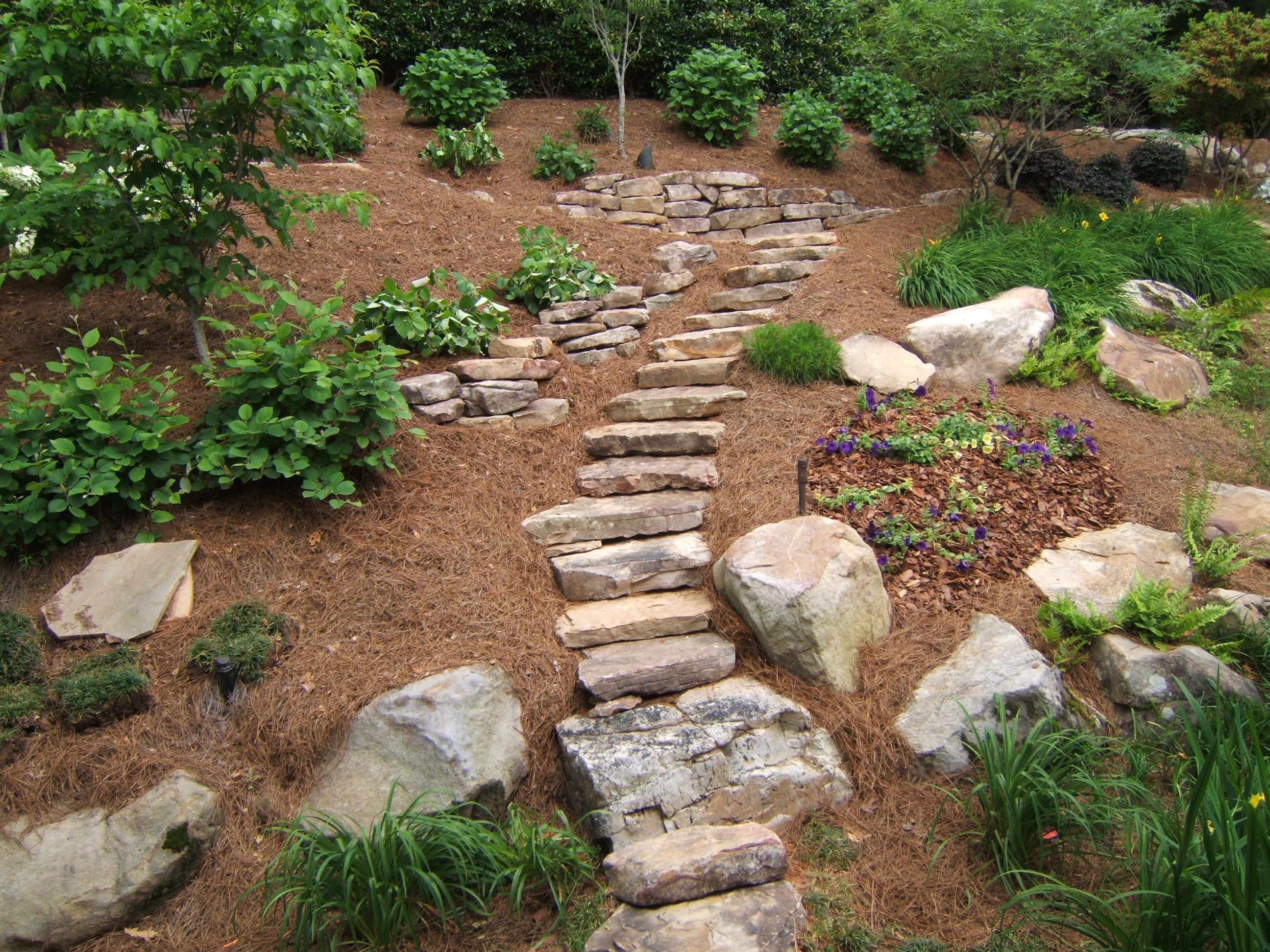 Rye Stairs After 001 343125324 Jpg Jpeg Image 2592x1944 Pixels Scaled 29 Landscaping With Rocks Hillside Landscaping Steep Hillside Landscaping