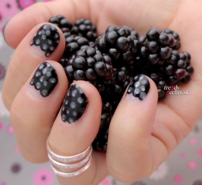 Blackberry Nail Art